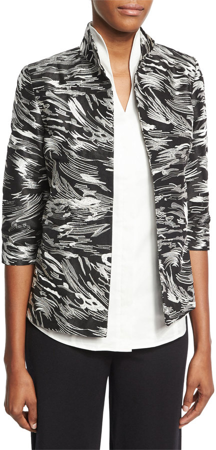 Misook Dressed Up Swirl Jacket, Plus Size