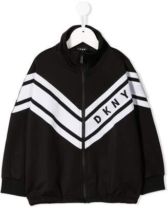 DKNY chevron-print logo sweatshirt