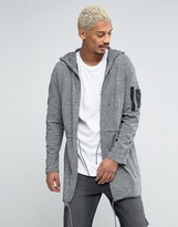 Asos Knitted Parka with MA1 Pocket