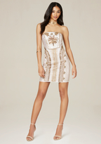 Bebe Beaded Strapless Mini Dress
