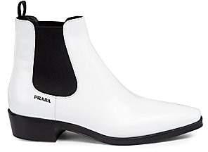 Prada Women's Leather Chelsea Boots