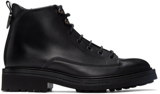 HUGO BOSS Black Leather Land Boots
