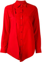 MM6 MAISON MARGIELA asymmetric long shirt - women - Polyamide/Polyester - 40