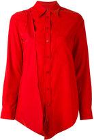 MM6 MAISON MARGIELA asymmetric long shirt - women - Polyester/Polyamide - 38