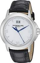 Raymond Weil Men's 5576-ST-00307 Tradition Stainless Steel Case Black Leather Strap with Crocodile Pattern Watch