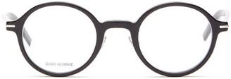 Dior Homme Sunglasses - Blacktie Round Acetate Glasses - Black