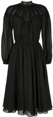 CK Calvin Klein Long-Sleeve Shirt Dress