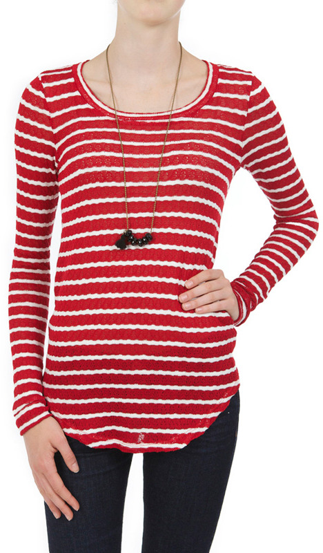 Whetherly Rosewood Striped Tee