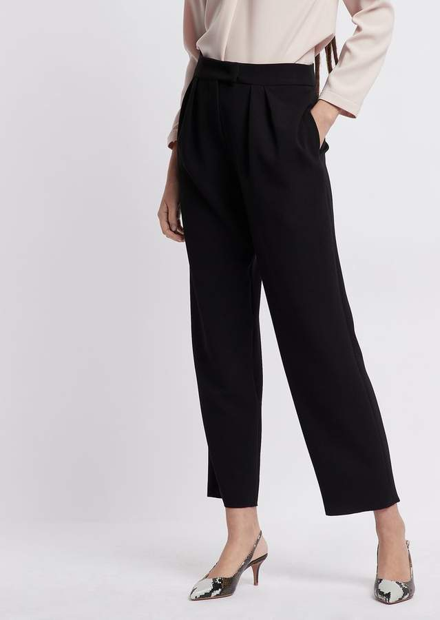 fd768d127e Cropped Crepe Pants
