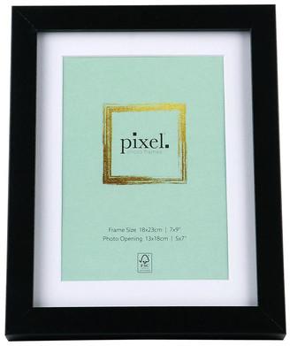 Pixel Photo Frames Pixel Black Photo Frame 18x23cm with 13x18cm Opening