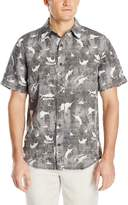 Margaritaville Men's Short Sleeve BBQ Shirt - Gone Fishing