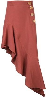 REJINA PYO asymmetrical midi dress