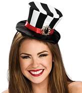 Rubie's Costume Co Women's Black and White Striped Mini Top Hat, Black/White