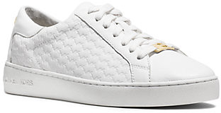 MICHAEL Michael Kors MK Colby Embossed-Logo Leather Sneaker - Optic White - Michael Kors