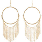Natasha Accessories Large Hoop With Fringe Earrings