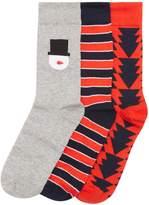 Jack & Jones 3 Pack Christmas Socks Gift Set