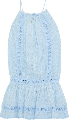 Melissa Odabash Chelsea Crochet-trimmed Broderie Anglaise Cotton Mini Dress