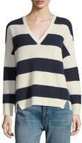 Kule Addison V-Neck Long-Sleeve Striped Sweater