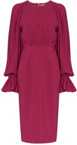 Roksanda flared-cuff midi dress