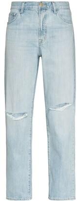J Brand Tate ripped-detailing boyfriend jeans