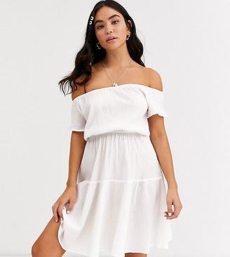 Glamorous Exclusive prairie beach dress in white