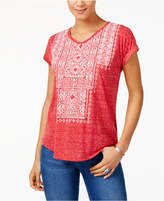 Style&Co. Style & Co Style & Co Petite Embroidered T-Shirt, Created for Macy's