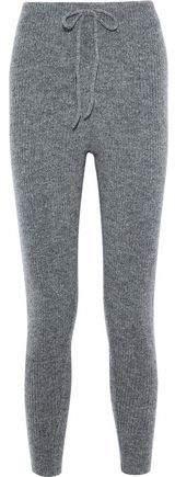 Melange Home Love Stories Casey Ribbed-knit Track Pants