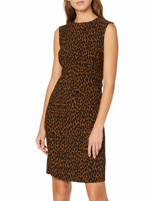 Dorothy Perkins Women's Toffee Animal Dress Party