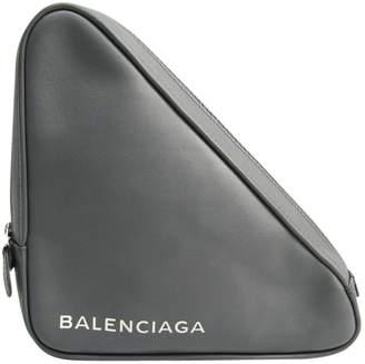 Balenciaga Triangle Grey Leather Clutch bags