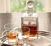 Pottery Barn Square Hand-Blown Glass Decanter