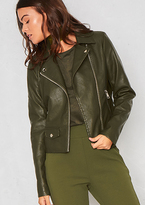 Missy Empire Sydney Green Faux Leather Biker Jacket