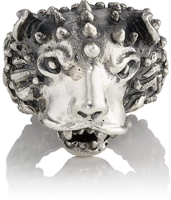 Emanuele Bicocchi Men's Themed Sterling Silver Ring