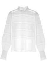 Etoile Isabel Marant Ria high-neck lace-insert blouse