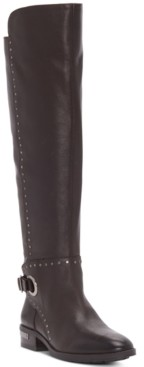 Vince Camuto Women's Poppidal Wide-Calf Stretch Riding Boots Women's Shoes
