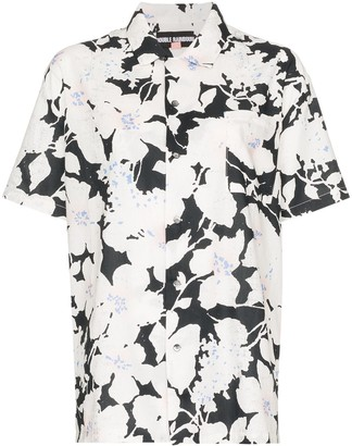 Double Rainbouu floral print short-sleeve shirt