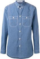 Givenchy contrast stitch shirt - men - Cotton - 40