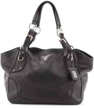 Prada Buckle Strap Shoulder Bag Vitello Daino Medium