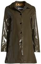 Jane Post Faux Fur-Lined Rain Coat