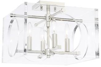 Mercer41 Tabarez 4 - Light Shaded Square / Rectangle Chandelier