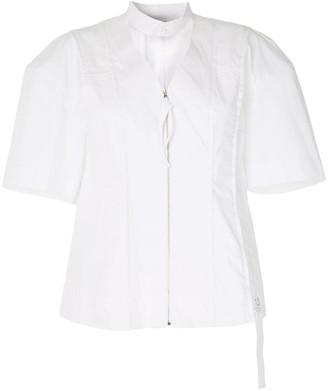 Re Code Exposed-Seam Zip-Front Shirt