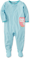 Carter's 1-Pc. Striped Owl Footed Pajamas, Baby Girls (0-24 months)