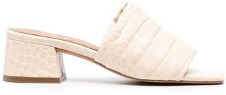Paul Warmer Animal-Print Padded Sandals