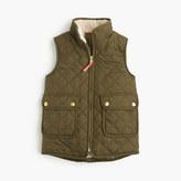 J.Crew Girls' sherpa-lined puffer vest