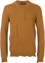 Alexander McQueen piercing sweater - men - Cashmere/Wool/Brass - M