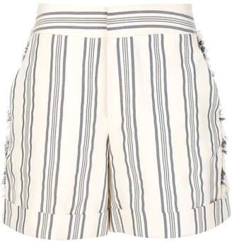 Monse Fringe Striped Shorts