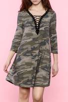 Entro Camo Lace Up Dress