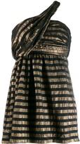 Saint Laurent lame striped mini dress