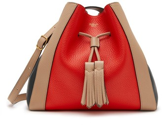 Mulberry Small Millie Tote Lipstick Red, Light Walnut and Black