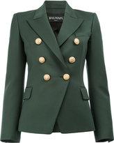 Balmain peaked lapel blazer - women - Cotton/Viscose/Wool - 40