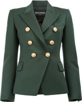 Balmain peaked lapel blazer - women - Cotton/Viscose/Wool - 42